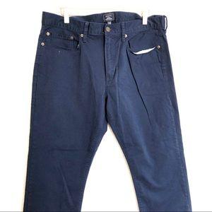 Gap khaki slim stretch pants in blue